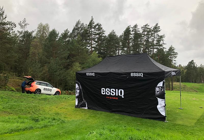 ESSIQ-tältet på ESSIQ-golfen 2018